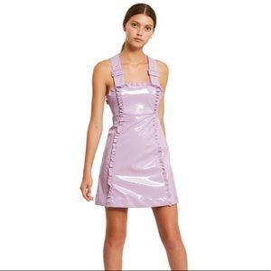 Alexa Chung Patent Apron Dress